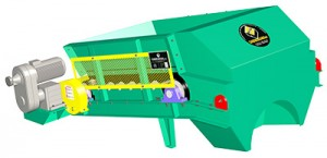 Band feeders for any type of installation. Single block transmitions and manual speed.