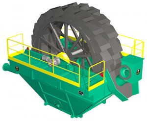 Industrial sand washer with maximum recovery of fines. Specialized for aggregates.